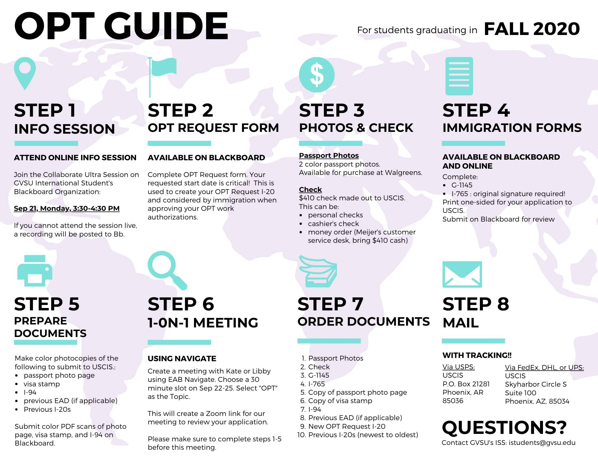 Fall 2020 OPT Application Guide